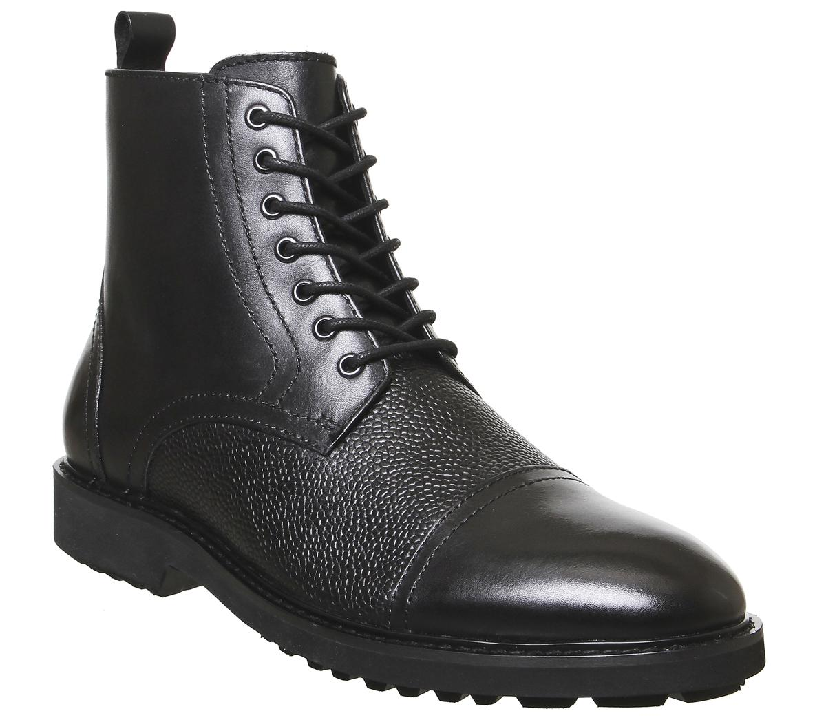 Office Bennett Lace Up Boots Black
