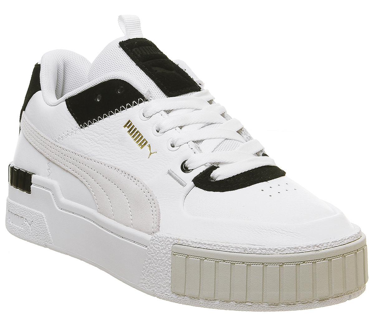 Puma Cali Sport Trainers White Black Sneaker damen
