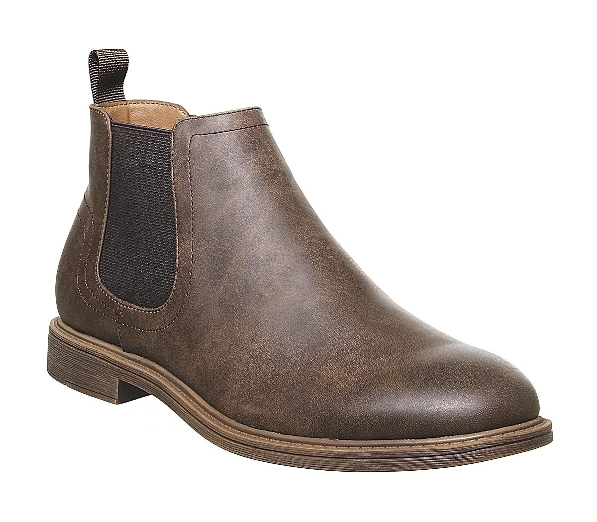 Office Bittern Chelsea Boots Brown