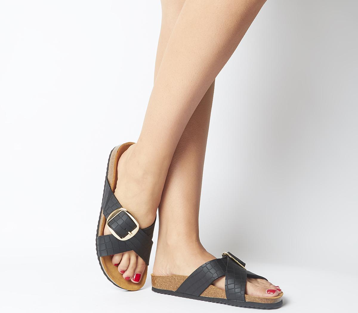 Shoreditch- Buckle Cross Strap Sandals