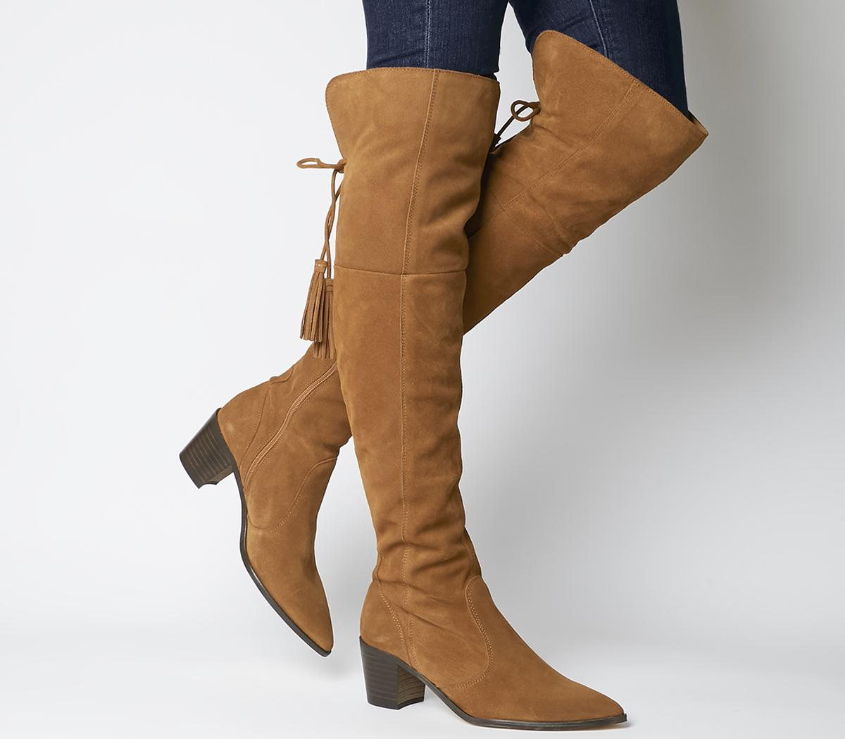 Krescent Over The Knee Western Boots