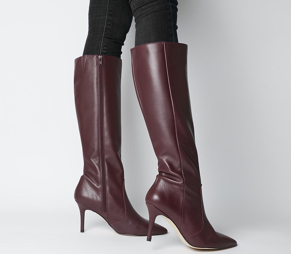 Office Keep Up Stiletto Knee Boots