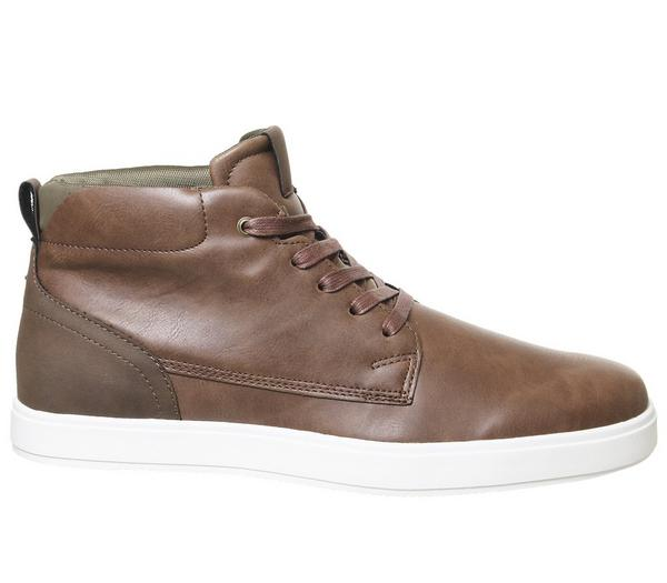 Office Cheer Hi Top Trainers Brown - Casual C6sSJKa