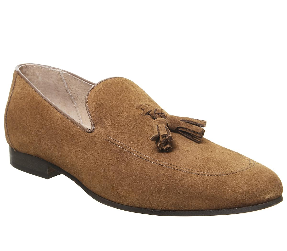Office Canter Tassel Loafers Tan Suede