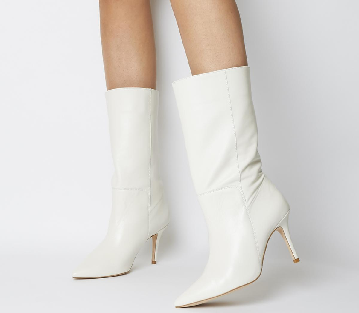 Office Koffee Pointed Calf Boots Off