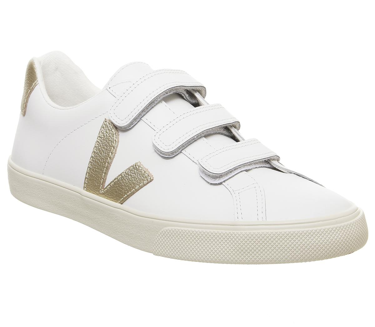 Veja 3-lock Trainers Extra White Gold F