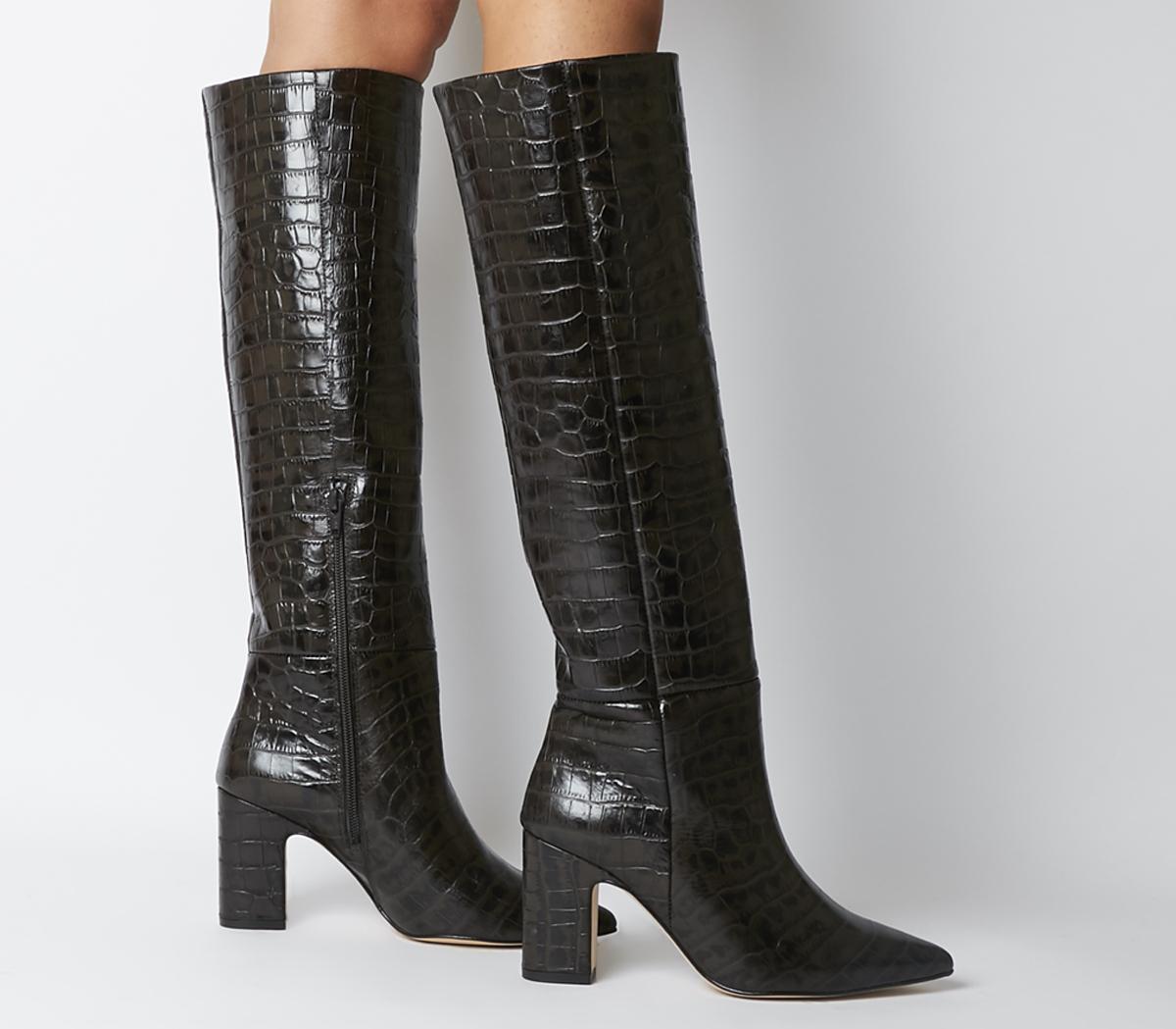 Karamel- Block Heel Knee Boot