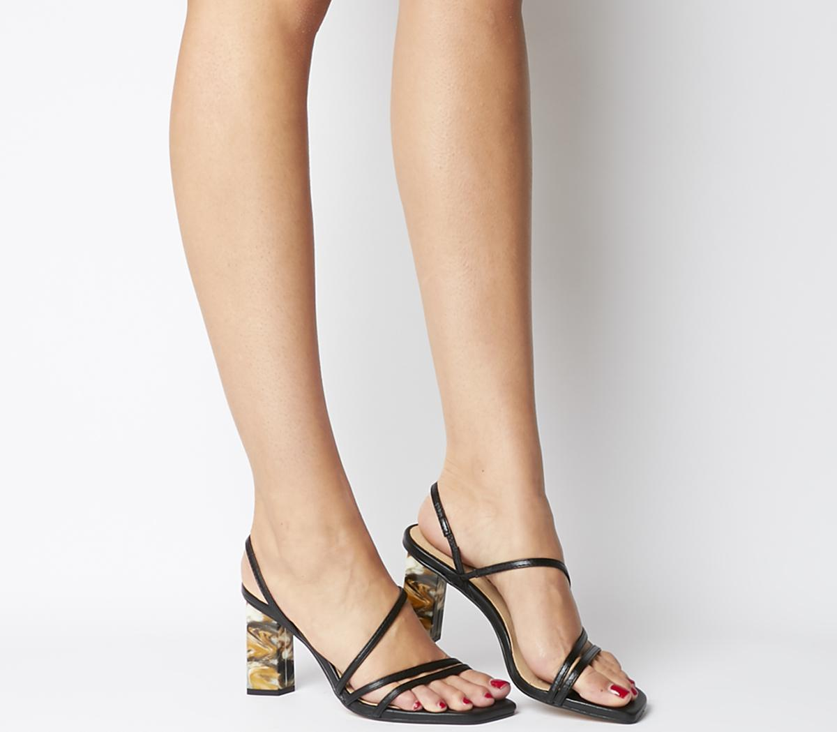 Mocktail Strappy Feature Heel Sandals
