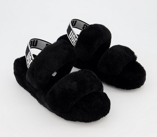 UGG Oh Yeah Slippers Black - Flats fHWKqua