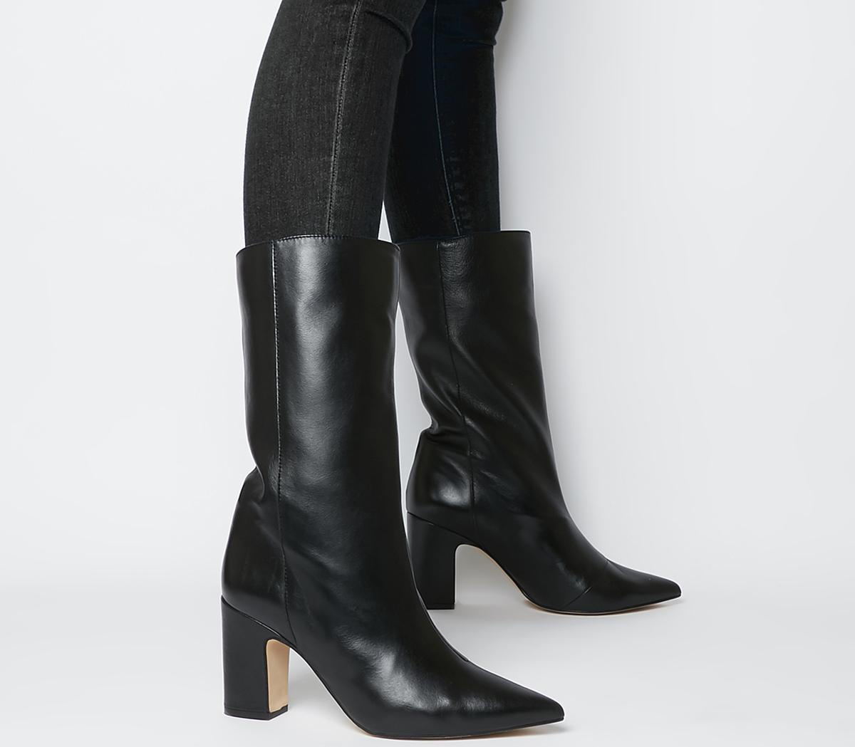 Office Karma Calf Block Heel Boots