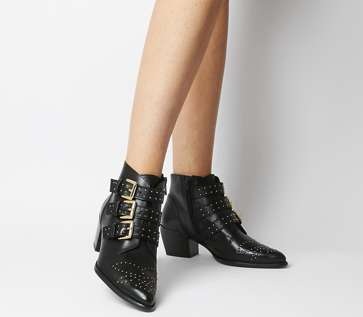 Astrology Western Boots With Buckles