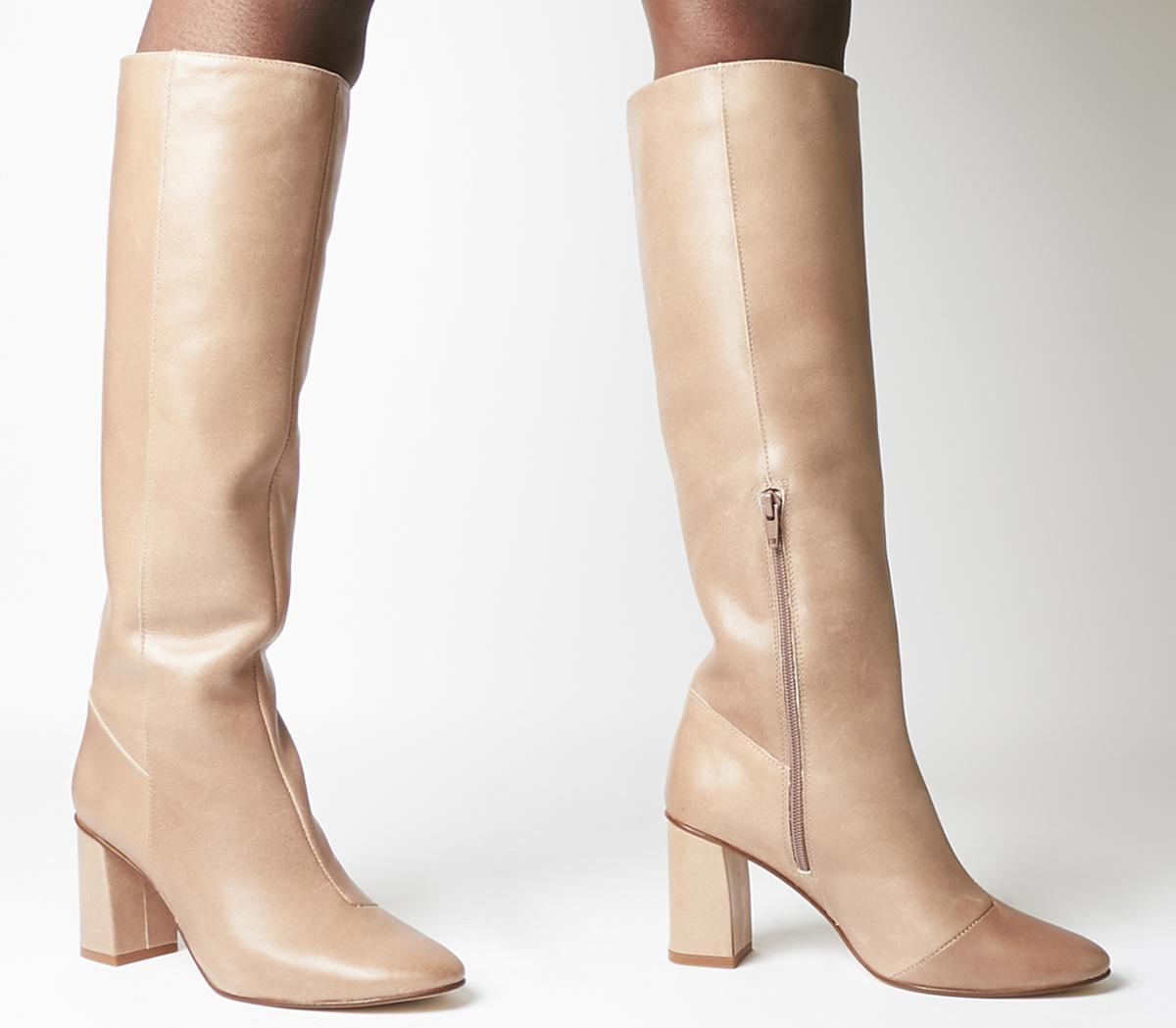Office Kingdom Block Heel Knee Boots