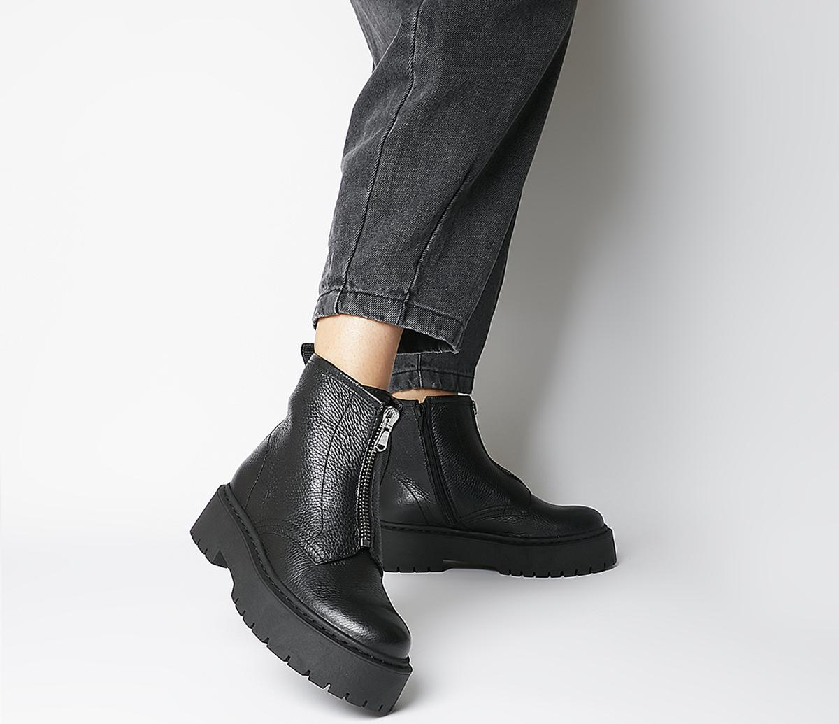 Office Abuzz Chunky Front Zip Boots