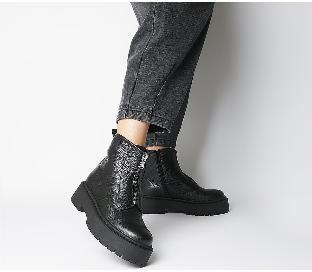 Abuzz Chunky Front Zip Boots