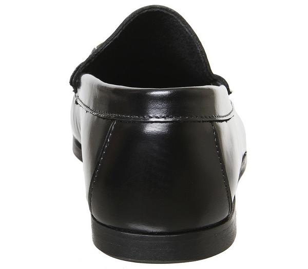 Office Miles Chain Loafers Black Hi Shine Leather - Smart xxt0H9b