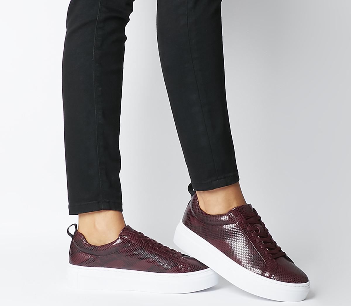 Vagabond Zoe Platform Sneakers Wine
