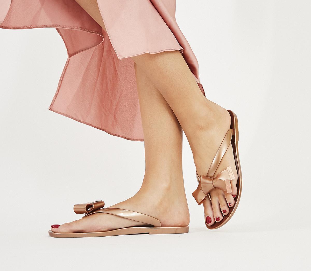 Ted Baker Luzzi Flip Flops Rose Gold