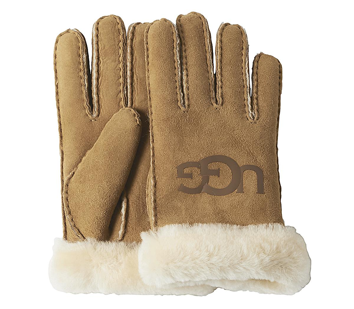 Sheepskin Logo Gloves
