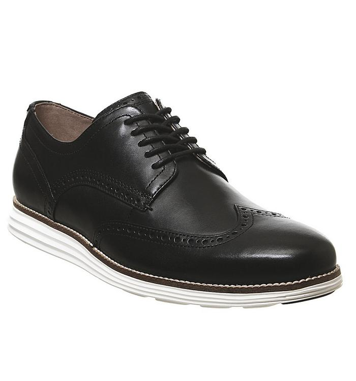 Cole Haan Cole Haan W Original Grand Wingtip Oxford BLACK LEATHER WHITE