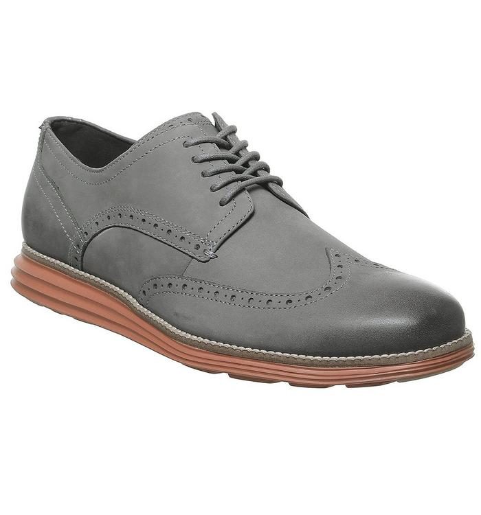Cole Haan Cole Haan W Original Grand Wingtip Oxford WOODBERRY BROWN AND IVORY