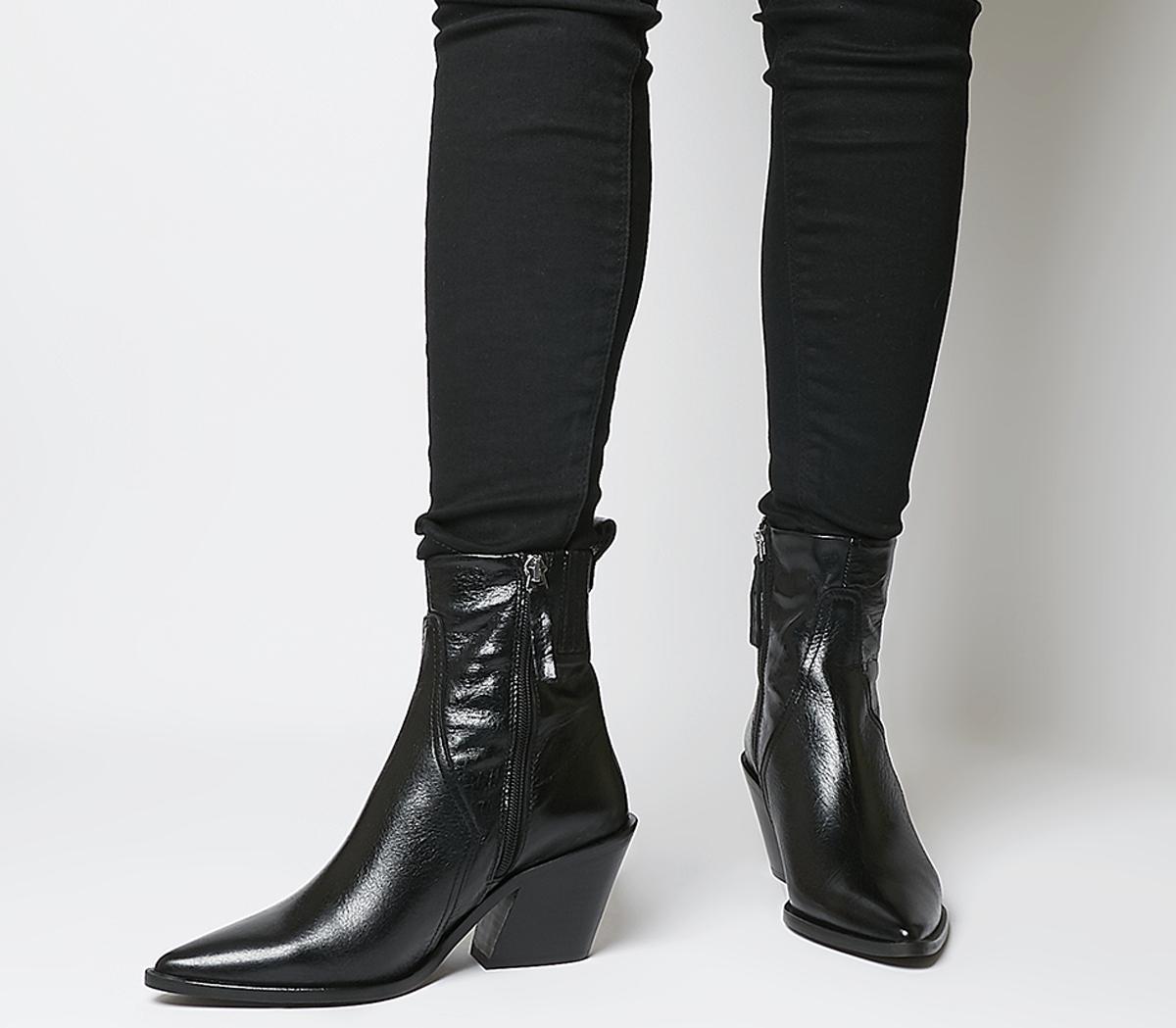Office Americano Western Boots Black