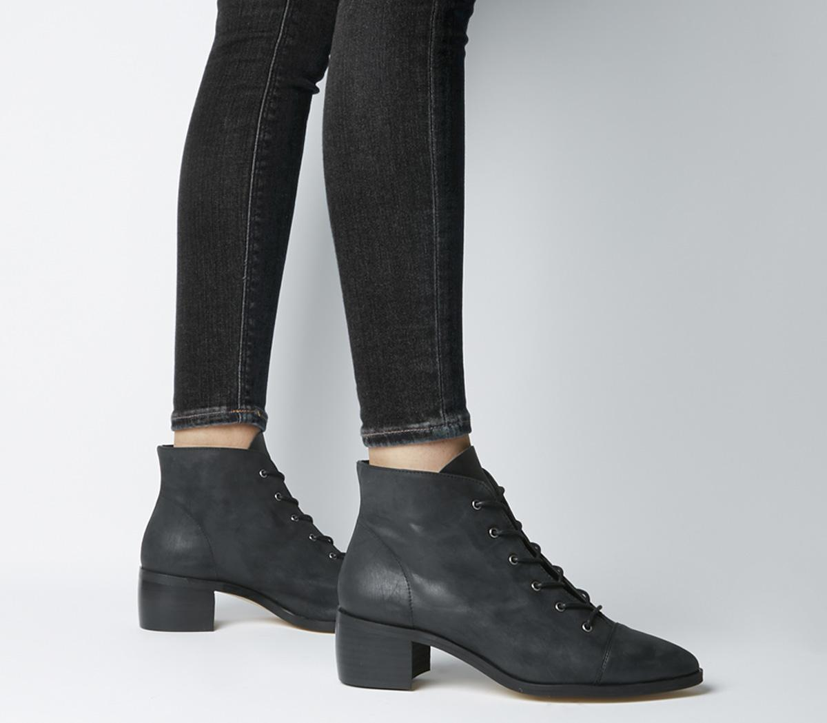 Office Accord Lace Up Boots Black
