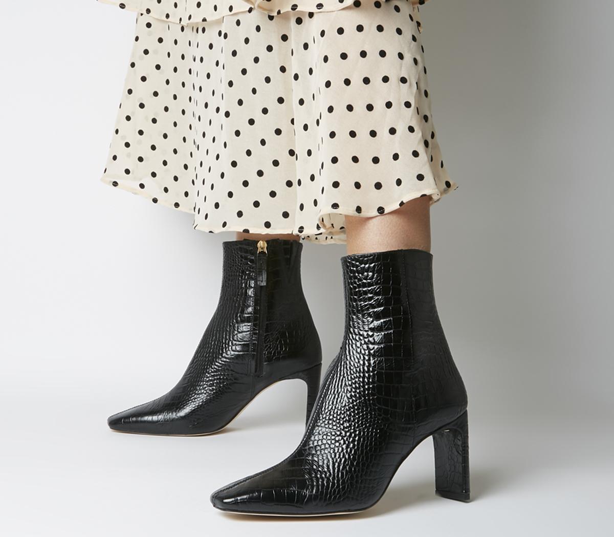 Office Alaya Smart Boots Black Croc