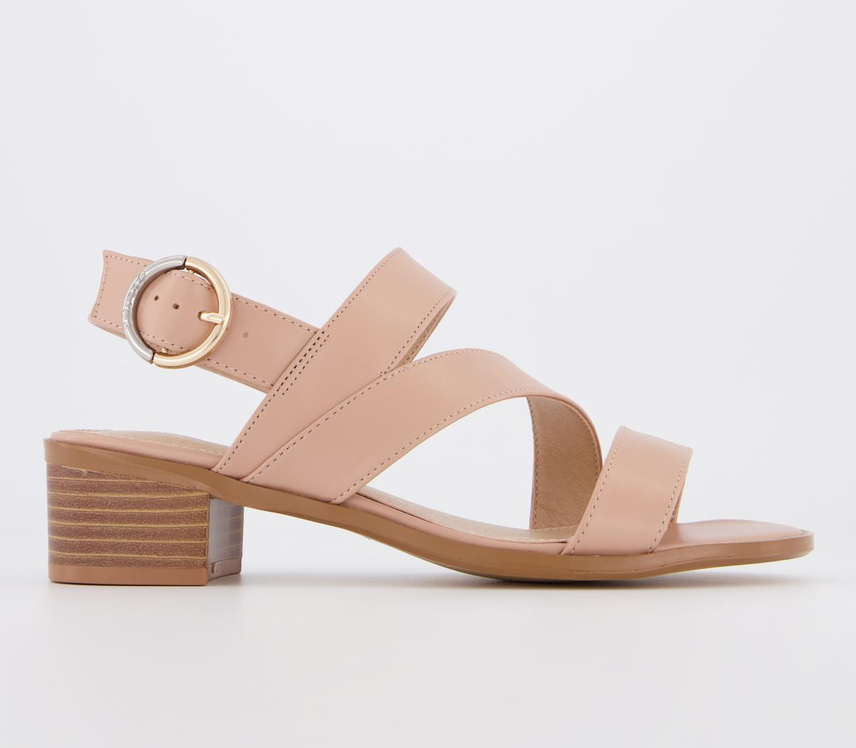 Margarita Asymmetric Low Block Sandals