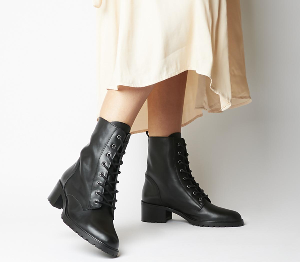 Office Azalea Lace Up Boots Black