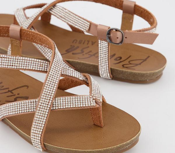 Blowfish Malibu Granola D Sandals Rose Gold Milanorhinestone Pixel Beads - Sandals kte47Ax