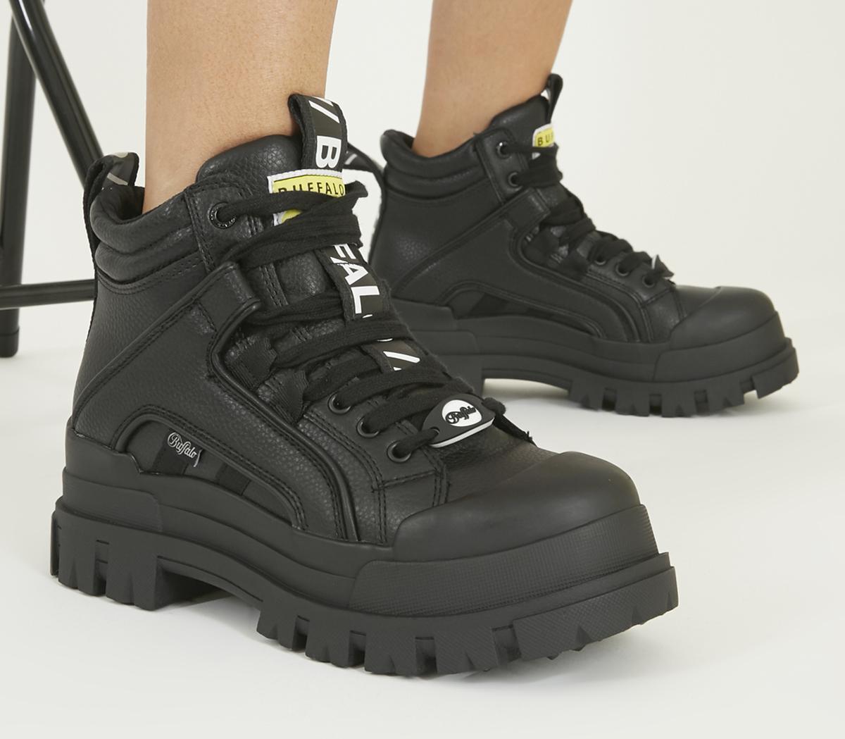 buffalo ankle boots black