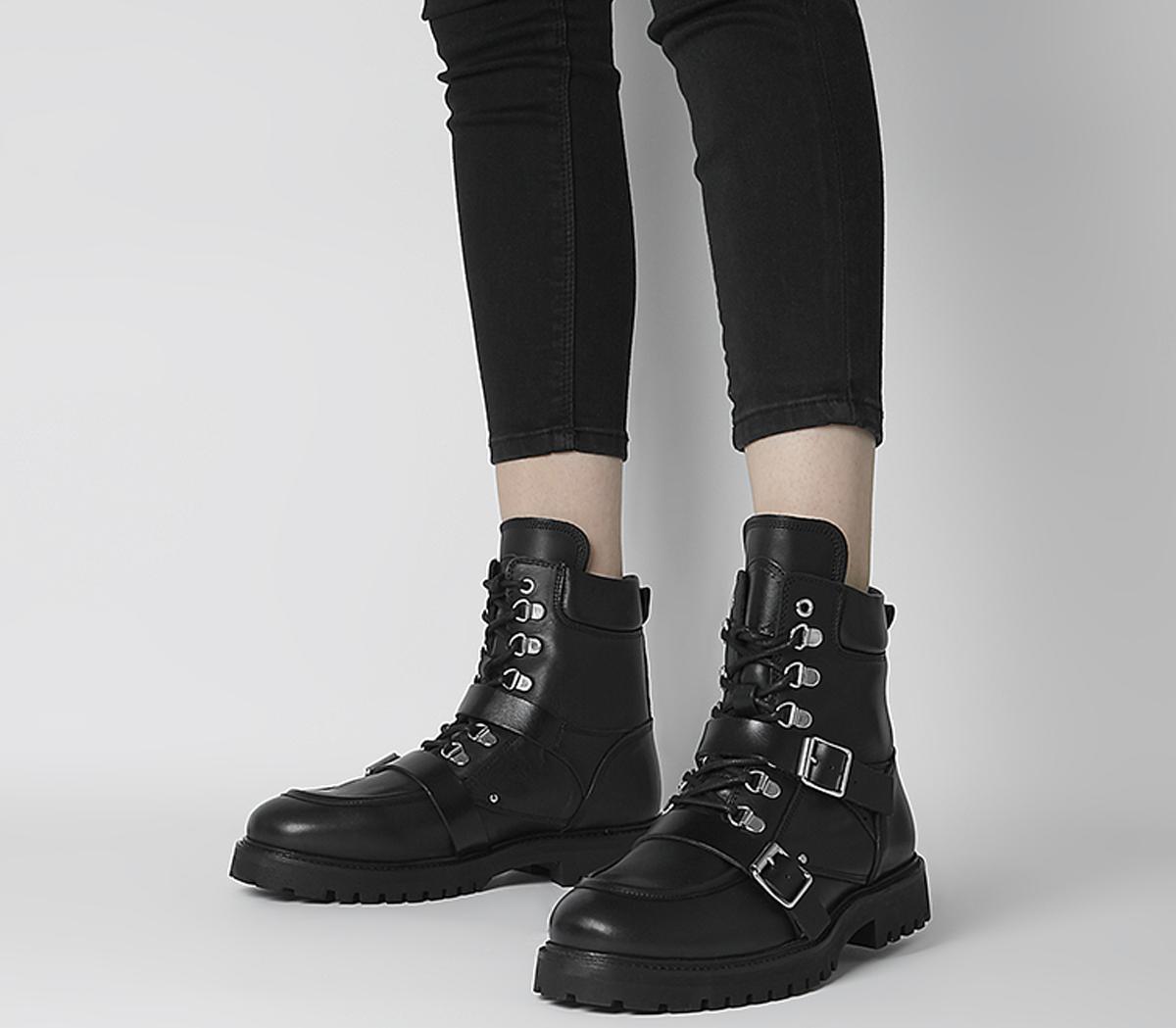 All Saints Noa Boots Black - Ankle Boots