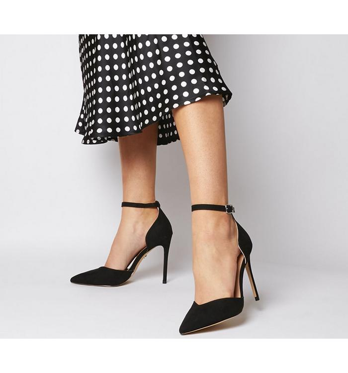 N/A Office Hartland -  Two Part Point Heel BLACK