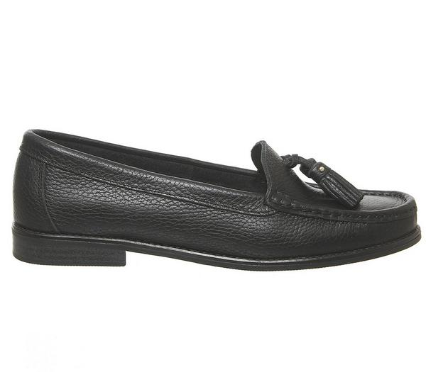 Office Fathom Tassel Loafers Black Leather - Loafers 4i0sa9a