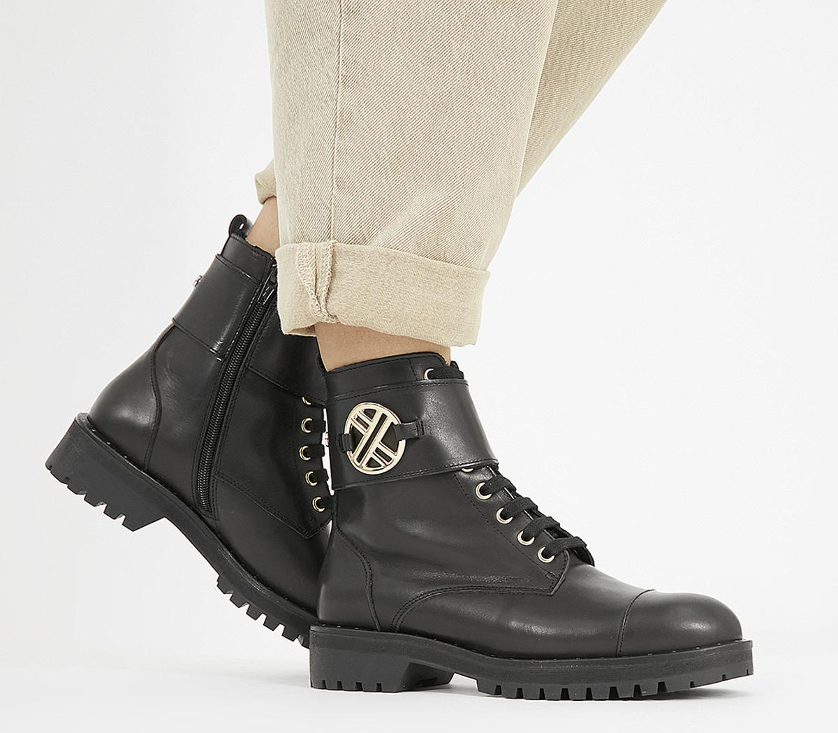 Ambiguous Lace Up Boots