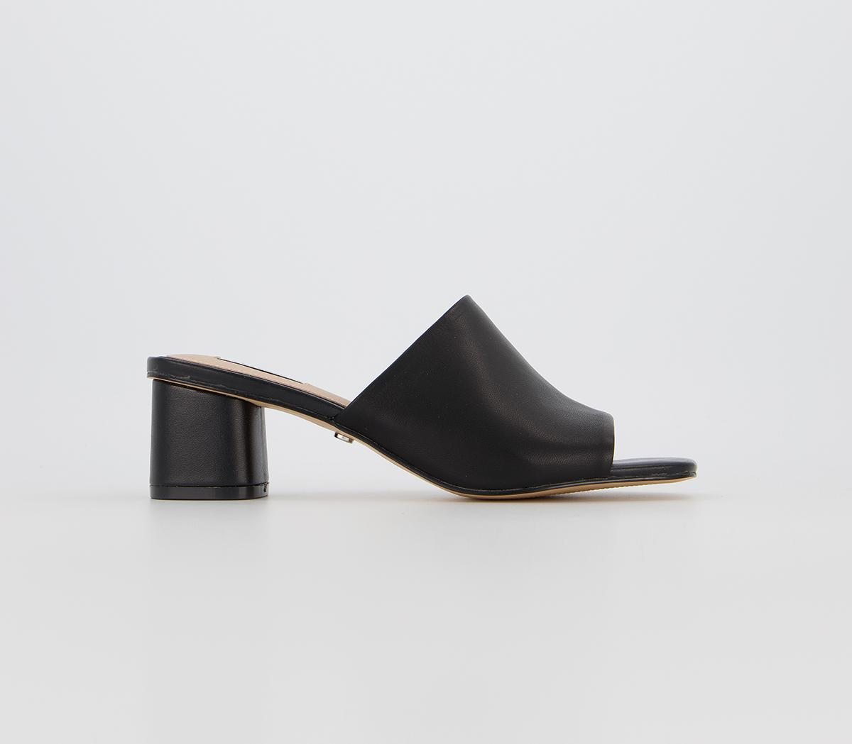 Office Miss-q Leather Mule Black