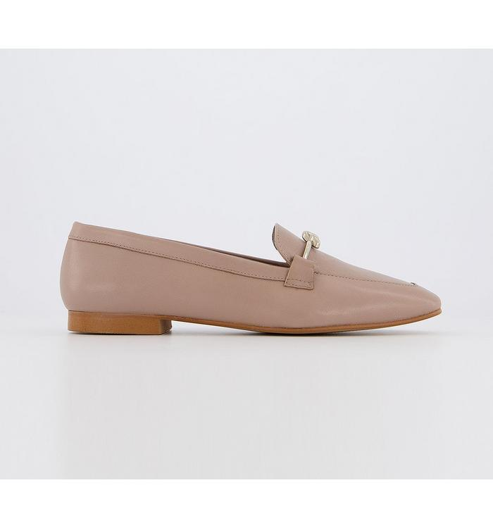 Office Office Fluent- Metal Trim Loafer NUDE LEATHER