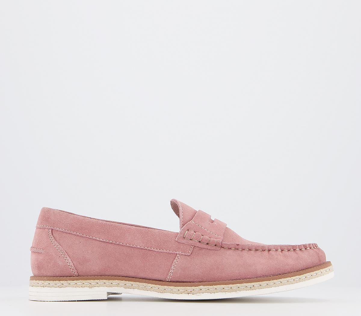 Office Claud Penny Loafers Pink Suede