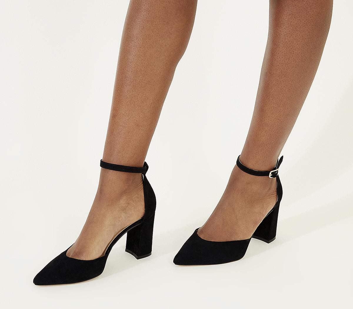 Office Minnie- Ankle Strap Court Black