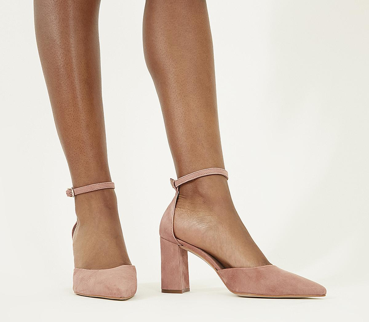 Office Minnie Ankle Strap Court Heels