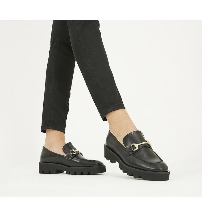 Office Office Fixate- Chunky Trim Loafer BLACK LEATHER
