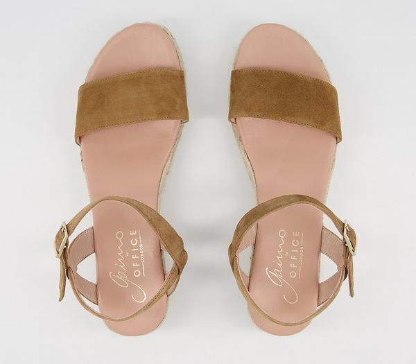 Gaimo for OFFICE Unai Sandals Tan Suede - Sandals wHTBN1w