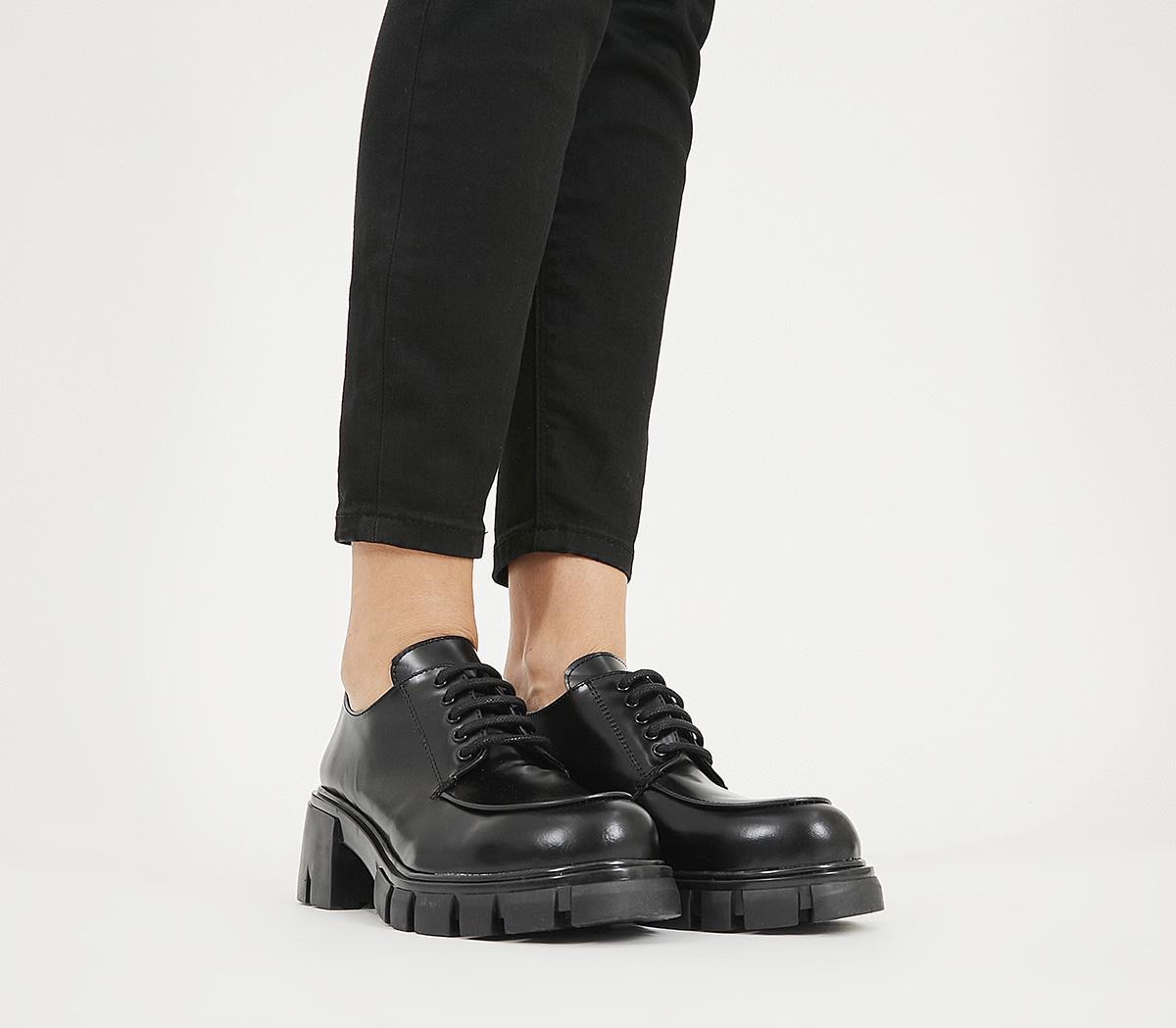 Office Matcha Chunky Sole Lace-up Black