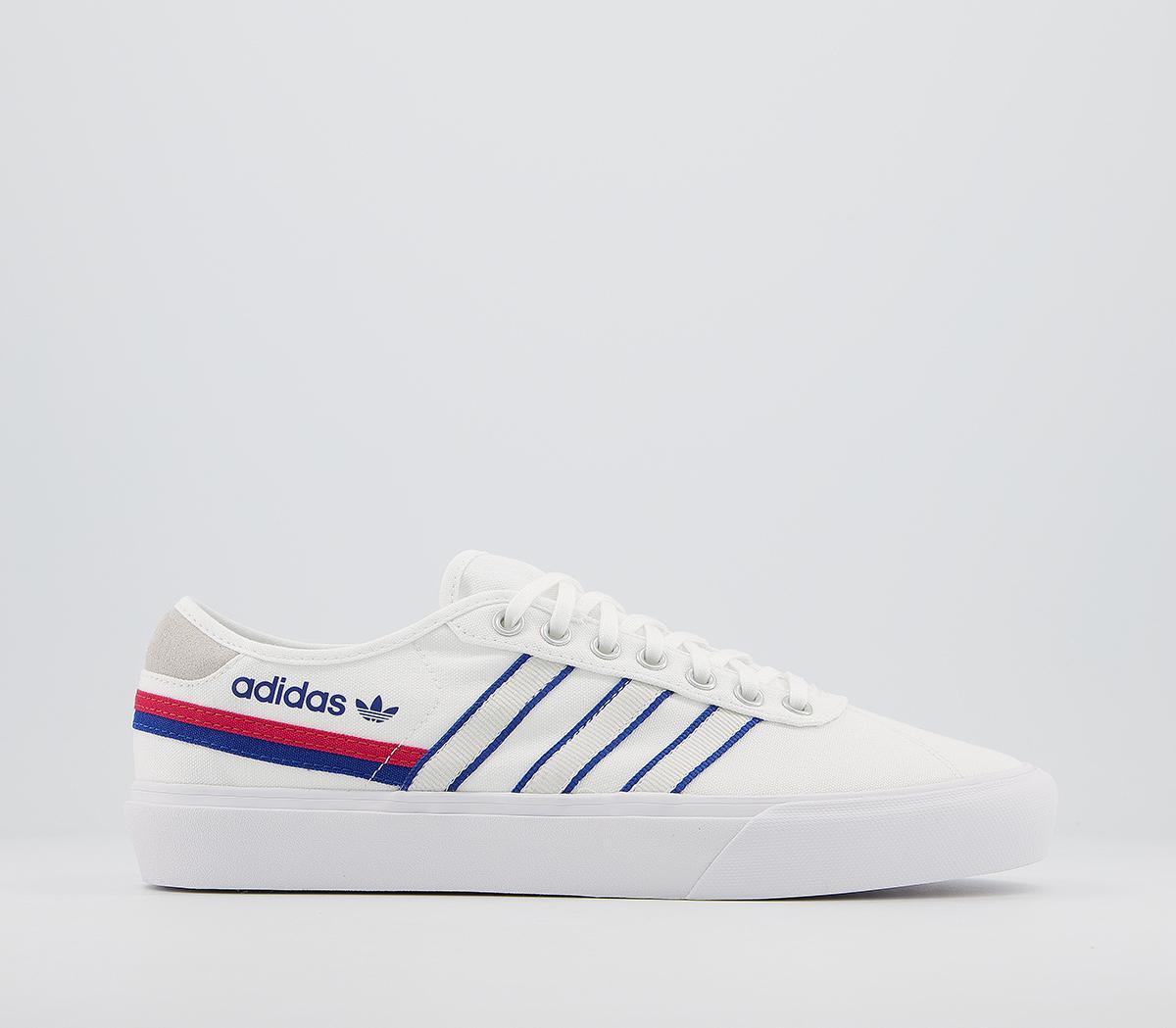 adidas Delpala Trainers White Royal