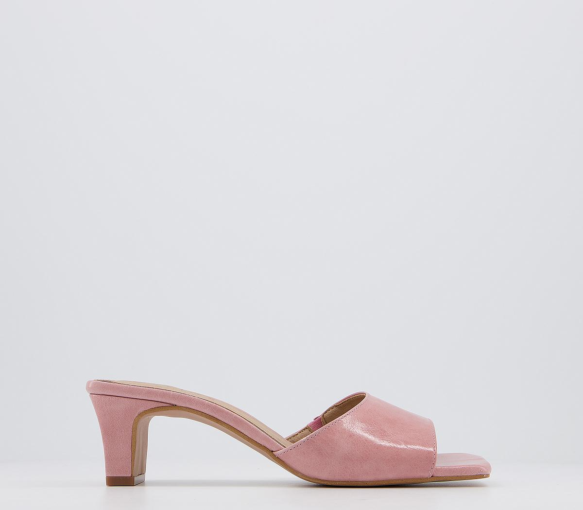 Magna Low Heel Mules