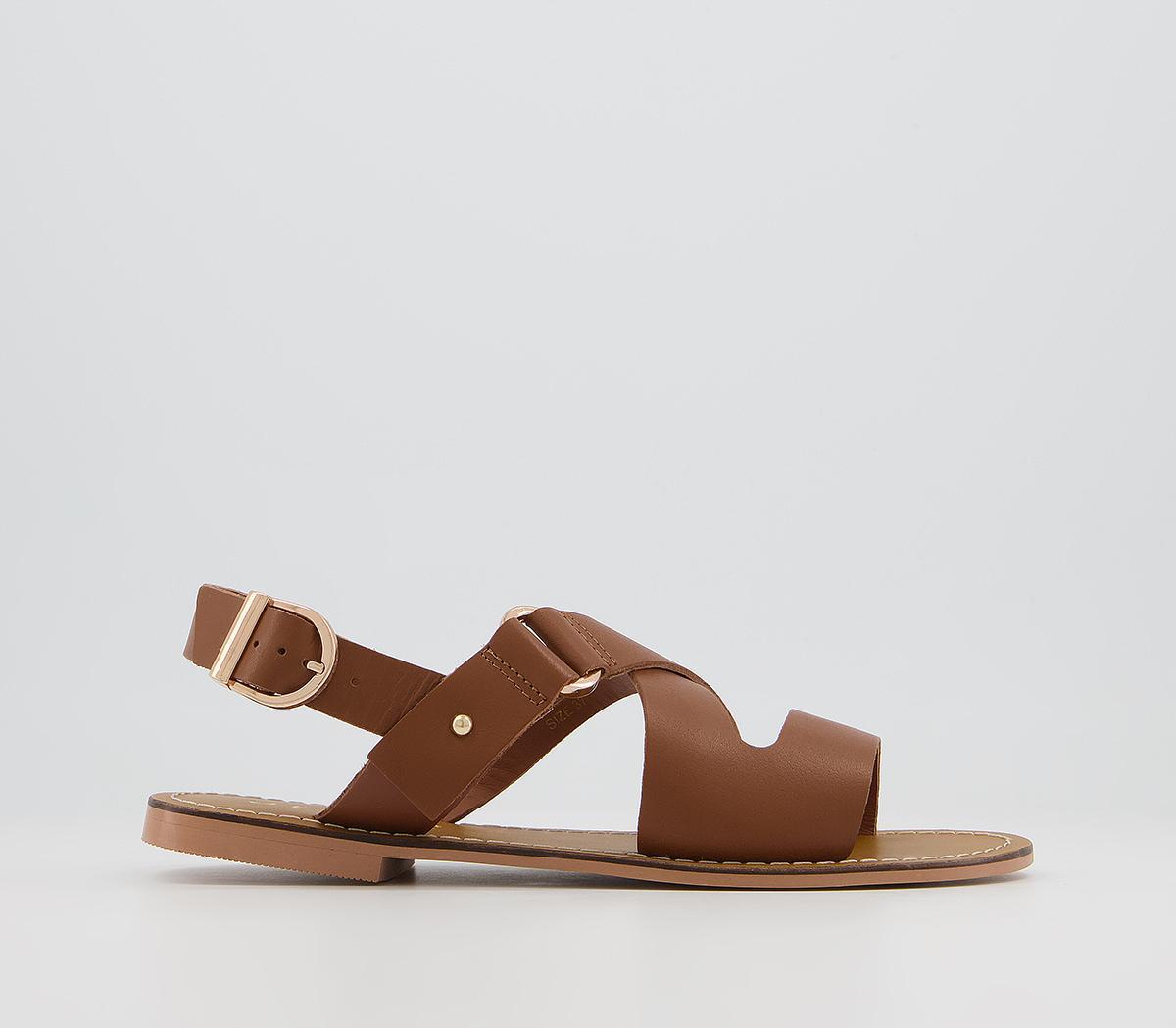 Scarlet Cross Strap Sandals