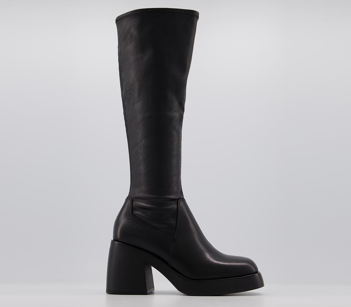 Vagabond Brooke Tall Boots Black - Knee