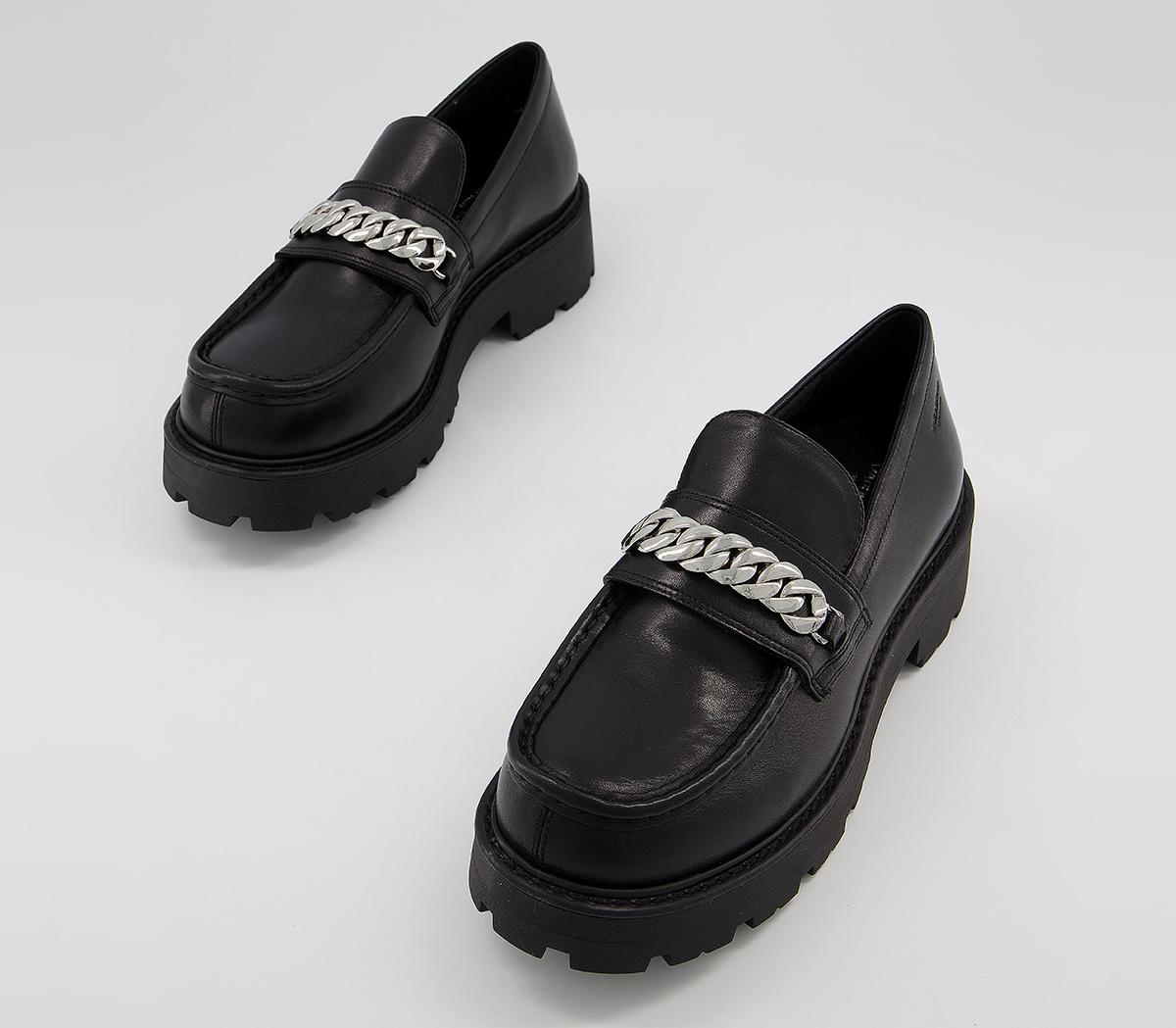 vagabond Cosmo Chain Loafer Black