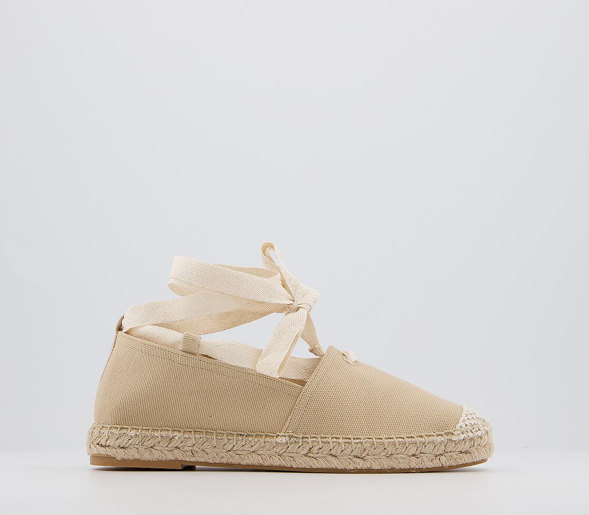 Farie Lace Up Flat Espadrilles