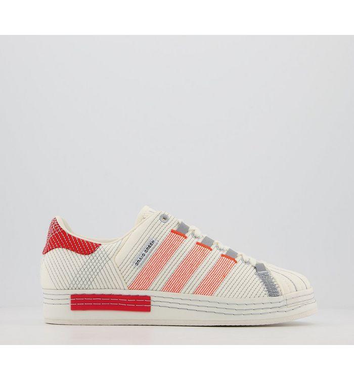 adidas Cg Superstar OFF WHITE BRIGHT RED GREY THREE,White